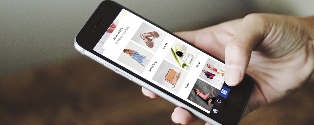 Breuninger Online Shop auf Smartphone Display