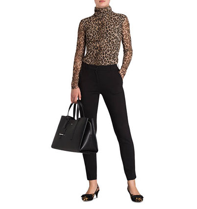 Outfit mit Animal-Print-Shirt
