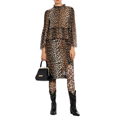 Allover Animal-Print Outfit