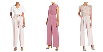 drei Jumpsuits in rose