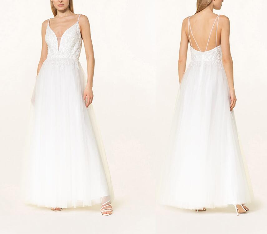 Kleid standesamt winter brautmutter